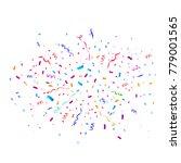 colorful bright confetti... | Shutterstock .eps vector #779001565