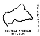 central african republic simple ... | Shutterstock .eps vector #779010586