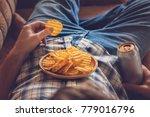 after work a guy wearing shirt... | Shutterstock . vector #779016796