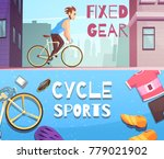 cycling sports fixed gear and... | Shutterstock .eps vector #779021902