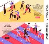 dance horizontal isometric... | Shutterstock .eps vector #779021938