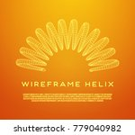 wireframe low poly mesh tension ... | Shutterstock .eps vector #779040982