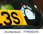 car register plate behind the... | Shutterstock . vector #779050192