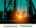 drilling exploration  the oil... | Shutterstock . vector #779060602