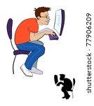 programmer   Shutterstock .eps vector #77906209