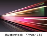 vector image of lights when the ... | Shutterstock .eps vector #779064358