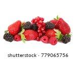 fresh fruit berries on white... | Shutterstock . vector #779065756