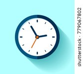 clock icon in flat style  timer ... | Shutterstock .eps vector #779067802