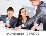 boss is explaining the correct...   Shutterstock . vector #7790773