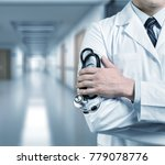doctor with a stethoscope | Shutterstock . vector #779078776