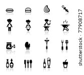 icons set barbecue | Shutterstock .eps vector #77908717