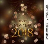 happy new year 2018 | Shutterstock .eps vector #779087686