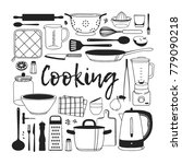hand drawn illustration cooking ... | Shutterstock .eps vector #779090218