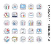 business charts and diagrams... | Shutterstock .eps vector #779090926