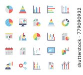business charts and diagrams... | Shutterstock .eps vector #779090932