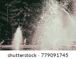 beautiful fountain in the park | Shutterstock . vector #779091745