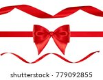 christmas decoration of red... | Shutterstock . vector #779092855
