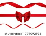 single shiny gift bow  red... | Shutterstock . vector #779092936