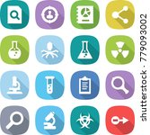 flat vector icon set   search... | Shutterstock .eps vector #779093002