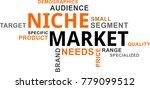 a word cloud of niche market... | Shutterstock .eps vector #779099512
