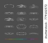 design elements   flourishes... | Shutterstock .eps vector #779102572
