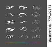 design elements   flourishes... | Shutterstock .eps vector #779102575