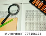 mental arithmetic background | Shutterstock . vector #779106136