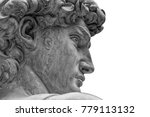 head of a famous statue by... | Shutterstock . vector #779113132