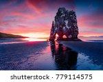 huge basalt stack hvitserkur on ... | Shutterstock . vector #779114575