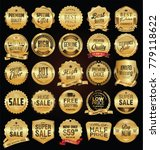golden badges and labels with... | Shutterstock .eps vector #779118622