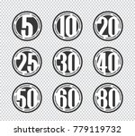 vector set of happy anniversary ... | Shutterstock .eps vector #779119732