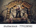 portrait of genghis khan or... | Shutterstock . vector #779128582