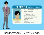 businessman and usa driver... | Shutterstock .eps vector #779129236