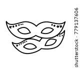 pair of eye masks  doodle... | Shutterstock .eps vector #779137606