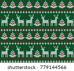 knitted christmas and new year... | Shutterstock .eps vector #779144566