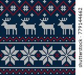 knitted christmas and new year... | Shutterstock .eps vector #779144662