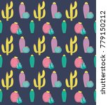 seamless pattern with cute... | Shutterstock .eps vector #779150212