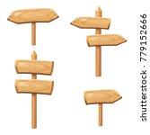 old wooden blank cartoon sign... | Shutterstock .eps vector #779152666