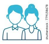 elegant couple avatar cartoon | Shutterstock .eps vector #779158678