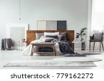 simple painting on wooden...   Shutterstock . vector #779162272