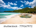traditional boats on sabang... | Shutterstock . vector #779167972