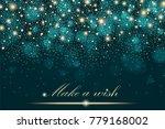 gold glitter particles...   Shutterstock . vector #779168002