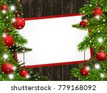 red christmas banner with red... | Shutterstock . vector #779168092