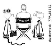 stage director on set coloring... | Shutterstock .eps vector #779185552