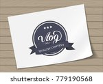 round badge daily vlog blogger... | Shutterstock .eps vector #779190568