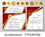 qualification certificate of... | Shutterstock .eps vector #779190706