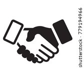 shaking hands icon | Shutterstock .eps vector #779194966