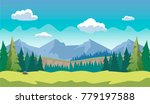 game horizontal forest... | Shutterstock .eps vector #779197588