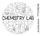 hand drawn science vintage... | Shutterstock .eps vector #779198248