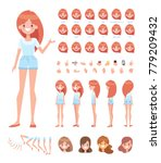 pretty girl for animation.... | Shutterstock .eps vector #779209432